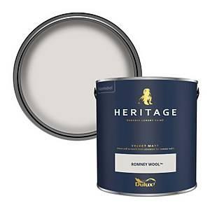 Dulux Heritage Matt Emulsion Paint - Romney Wool - 2.5L