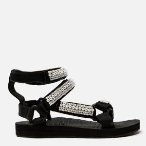 Arizona Love Women's Trekky Pearl Double Ankle Sandals - Black