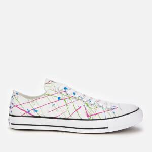 Converse Men's Chuck Taylor All Star Archive Paint Splatter Print Ox Trainers - White