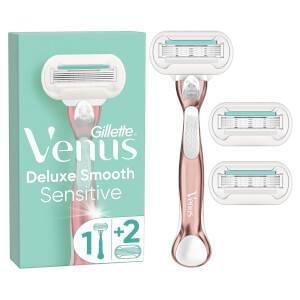 Venus Deluxe Smooth Sensitive Rose Gold Handle +3 Blades