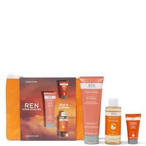 مجموعة REN Clean Skincare تعطيه مجموعة متوهجة