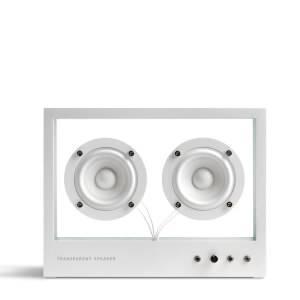 Transparent Small Speaker - White
