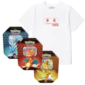 Pokémon Charmander Tee & Pokémon TCG: Hidden Fates Tin Bundle Men's T-Shirt - White - L
