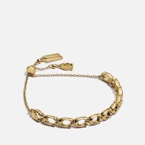 Coach Women's C Chain Link Frienship Slider Bracelet - Gold