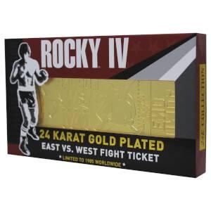 Rocky - 24K Gold Plated Fight Ticket Rocky V Drago