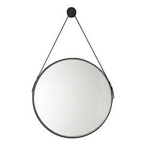 Noir 600mm Round Mirror
