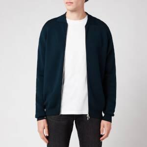 John Smedley Men's Rutherford Zip-Through Jacket - Orian Green