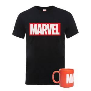 Marvel Mug & T-Shirt Bundle Men's T-Shirt - Black - M
