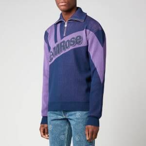Martine Rose Men's Zipped Logo Sweatshirt - Night Sky