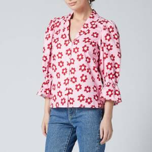 Kitri Women's Bretta Pink Floral Cotton Top - Pink Floral
