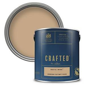 CRAFTED™ by Crown Flat Matt Interior Wall, Ceiling and Wood Paint – Rustic Twine™ - 2.5L