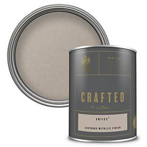 CRAFTED™ by Crown Lustrous Metallic Interior Wall and Wood Paint – Entice™ - 1.25L