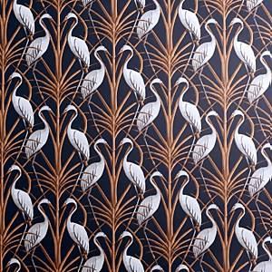 The Chateau by Angel Strawbridge Nouveau Heron Navy Wallpaper