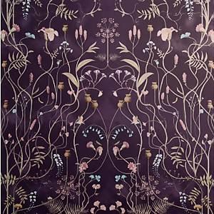 The Chateau by Angel Strawbridge Wild Flower Garden Night Shadow Wallpaper