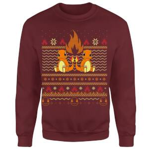 Pokemon Merry Litmas Unisex Christmas Sweatshirt - Burgundy