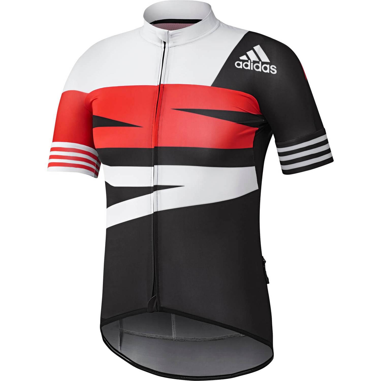 adidas Men's Adistar Jersey - Black/White/Red   ProBikeKit.com