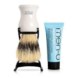 men-ü Barbiere ShavingBrush og Stand - Hvid