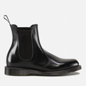 Dr. Martens Women's Flora Polished Smooth Leather Chelsea Boots - Black