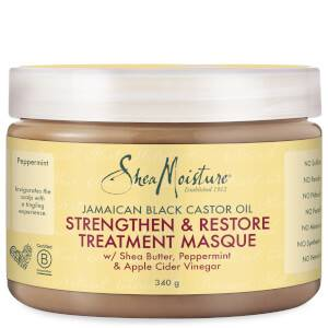 Shea Moisture trattamento in maschera rinforzante e riparatrice all'olio di ricino nero giamaicano 340 g