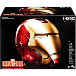 Hasbro Marvel Legends Avengers Iron Man Electronic Helmet (Full-Scale Size)