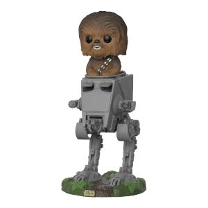 Star Wars Chewbacca in AT-ST Pop Deluxe Vinyl Figure