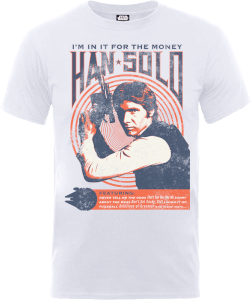 Star Wars Han Solo Retro Poster T-Shirt - White
