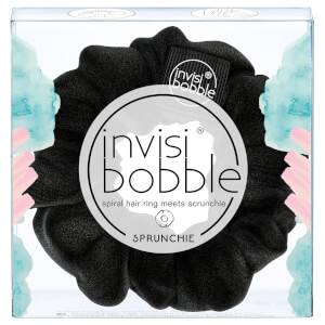 Тканевая резинка-браслет для волос invisibobble Sprunchie Spiral Hair Ring Scrunchie - True Black