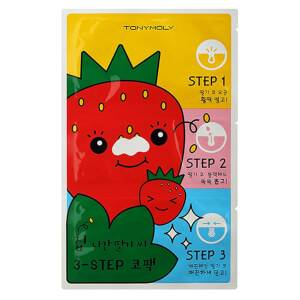TONYMOLY Runaway Strawberry Seeds 3 Step Nose Pack