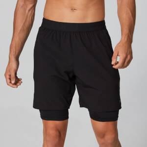 Power Dobbeltlags Shorts - Sort