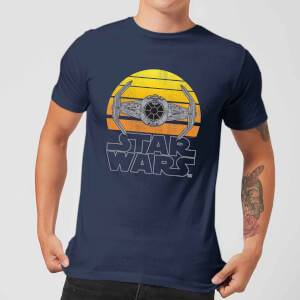 Star Wars Sunset Tie Men's T-Shirt - Navy