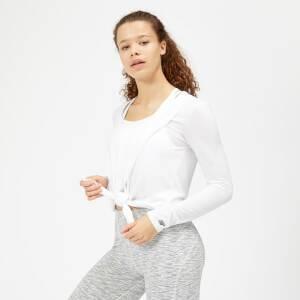 Twist Long Sleeve T-Shirt - White