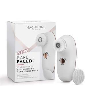 Cepillo limpiador y tonificante BareFaced 2 Daily de Magnitone London - Blanco