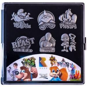 Rare Heritage Gaming Pin Badge Limited Edition Set