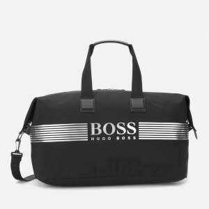 BOSS Men's Pixel Nylon Holdall Bag - Black/White Logo