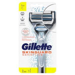 Gillette SkinGuard Sensitive Rasierer + 2 Rasierklingen