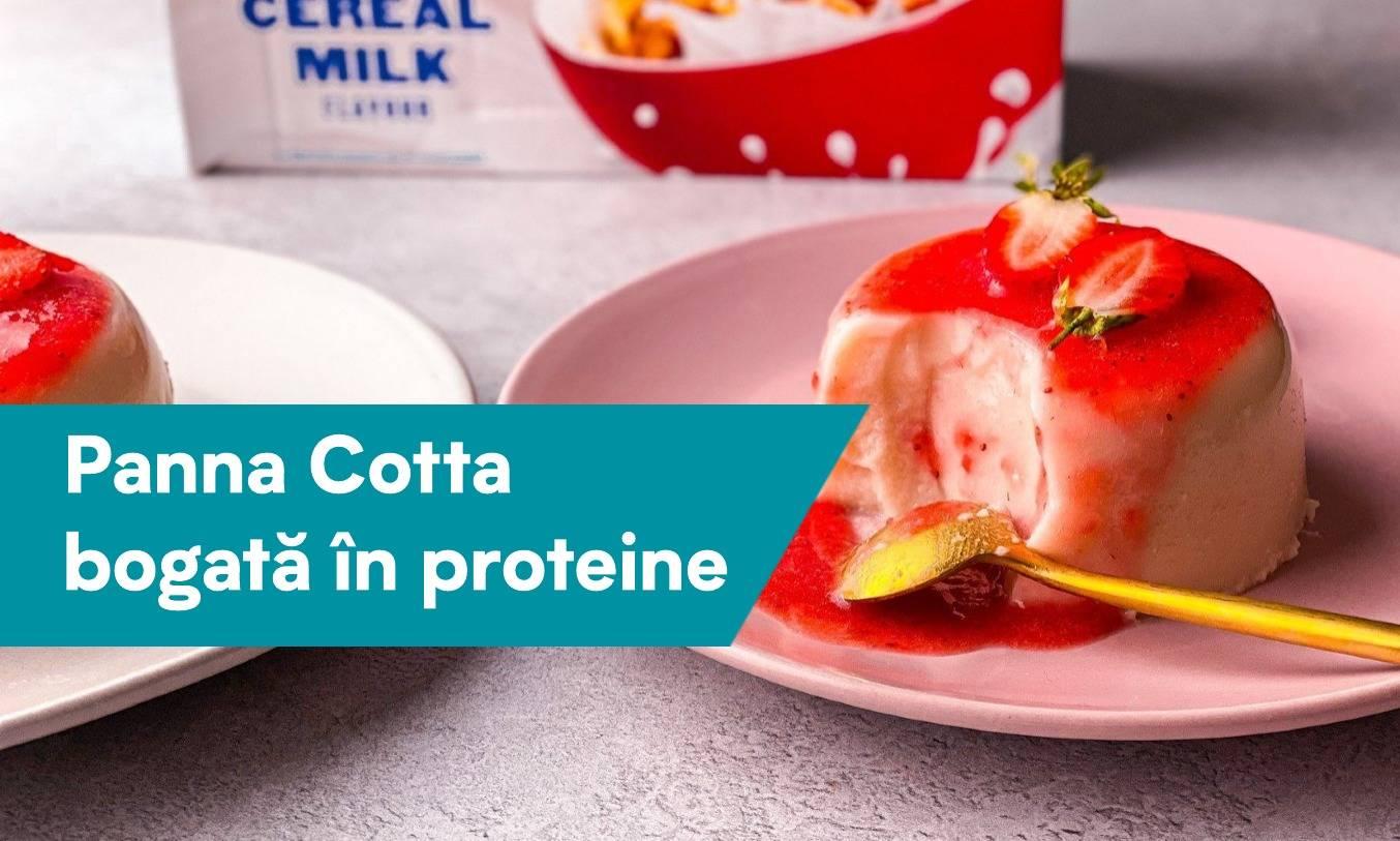 Panna Cotta bogată în proteine