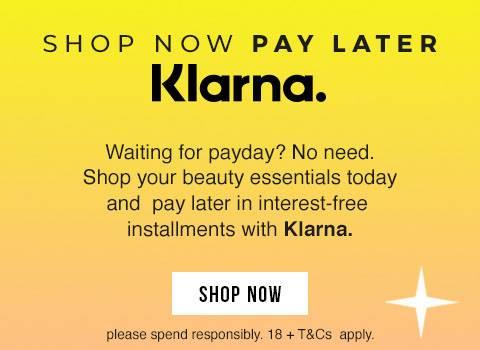 Klarna logo and messaging