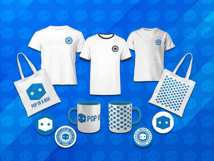 Pop In A Box NEW Branded Clothing and Gifts available now!