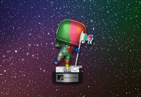 MTV Rainbow Moon Person Banner