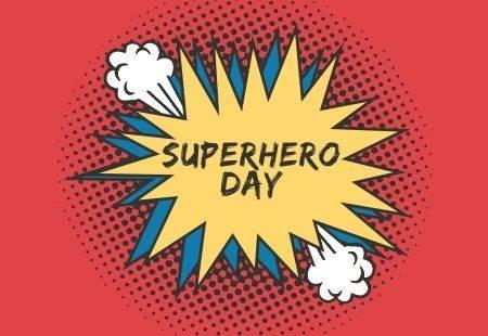 Happy National Superhero Day Banner