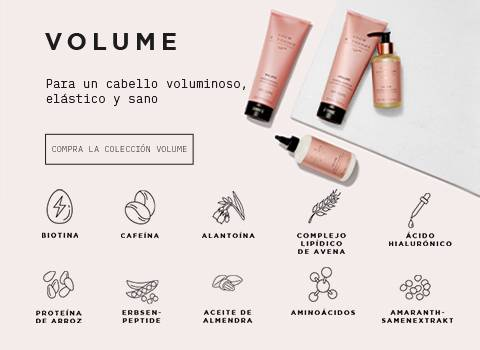 Ingredientes colección Volume Grow Gorgeous