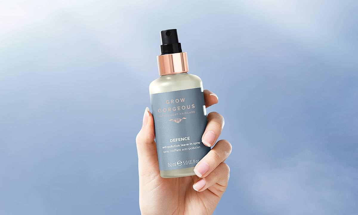 Spray protector solar para el cabello