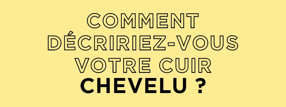 COMMENT DÉCRIRIEZ-VOUS VOTRE CUIR CHEVELU?