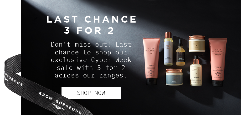 Last Chance to shop ou exclusive cyber week sale with 3 for 2