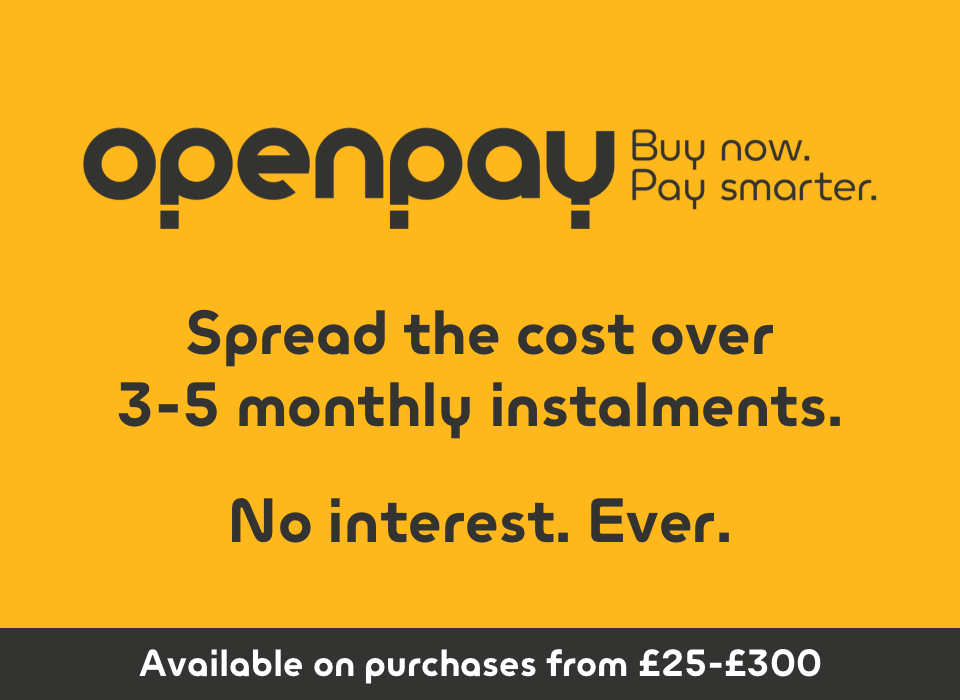 Openpay. spread the cost over 3-4 monthly instalments