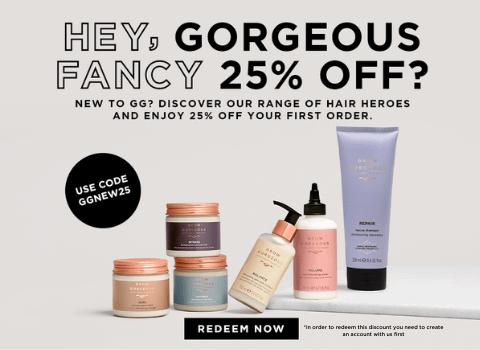 new customer 25% off