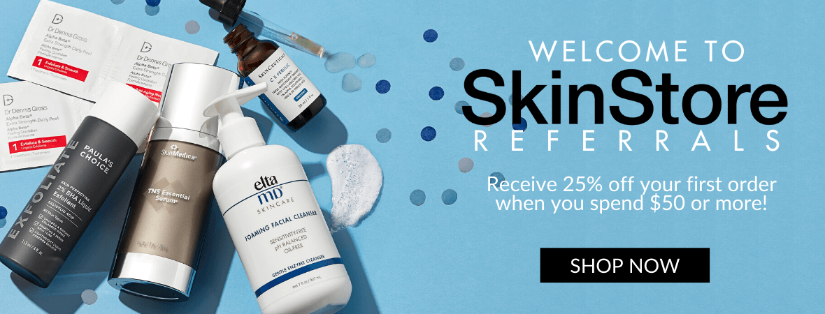 Welcome to SkinStore Referrals, Receive 25% off your first order when you spend $50 or more