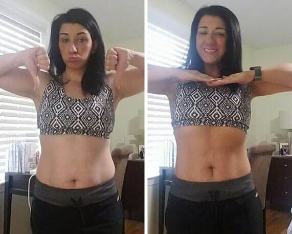 Katherine showing her results