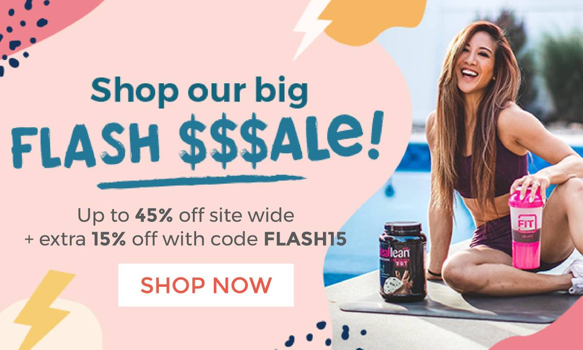 up to 45% off + extra 15% off with code: FLASH15