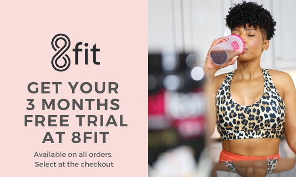 Free 3 month 8fit trial on all orders